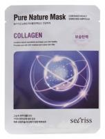 Deoproce - купить Восстанавливающая маска с коллагеном Secriss Pure Nature Mask Collagen, 25 мл на Deoprocemarket.ru